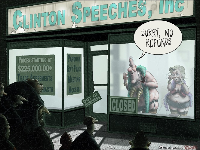 Image result for hillary supporters lined up for a refund political cartoons