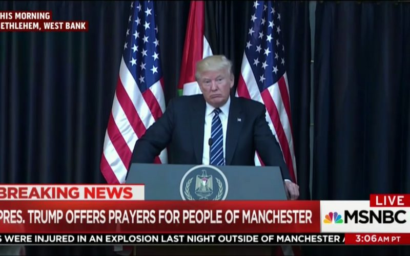Trump reacts to Manchester attack as overseas trip continues