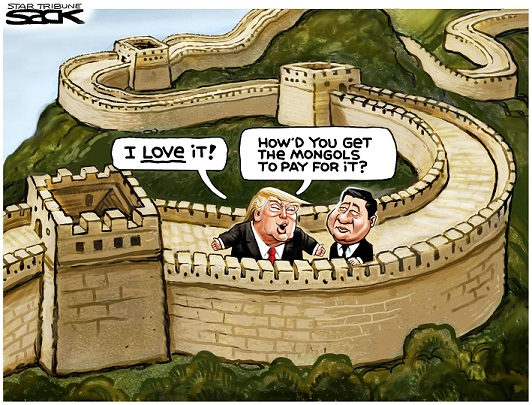 Image result for trump immigrant cartoon